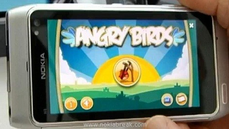 Angry Birds on Nokia Belle
