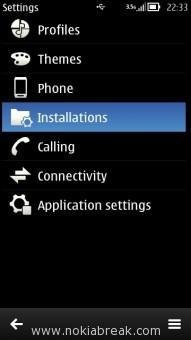 Nokia Settings - Installations