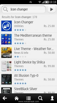 Search Icon Changer in Nokia App store