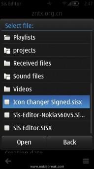 Sis or Sisx file Select