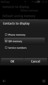 Contacts to Display Sim Memory