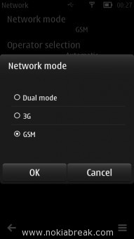 Disable 3G connection