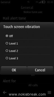 Disable Touch Screen Vibration