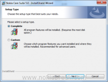Nokia Care Setup Type
