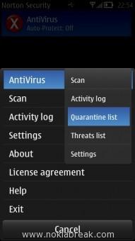 Norton Quarantine List