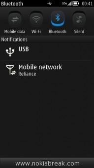 Pull Down Taskbar Bluetooth