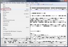 Save edited .dm on Notepad ++