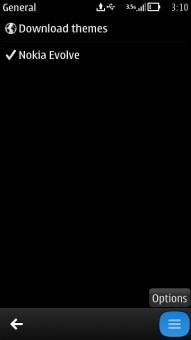 Nokia Theme Option Button