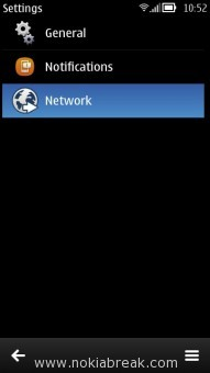 WhatsApp Messenger Settings network