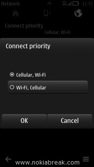 Whatsapp Messenger connect priority Wifi