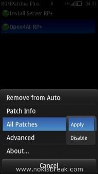 Apply Open4All Rp+ Patch
