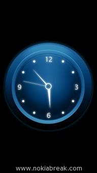 Neon Clock Blue