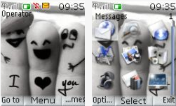I love you nokia theme