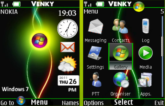 nokia 2690 windows 7 theme