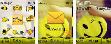 smileys theme nokia 2690