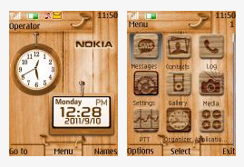 Clock with date nokia 6300 Theme