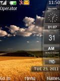 Nature Style Clock nokia 6300 theme