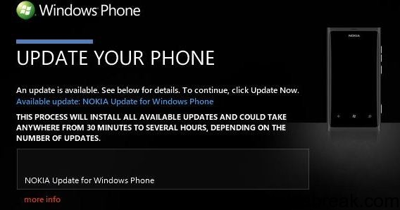 update nokia lumia 800 firmware